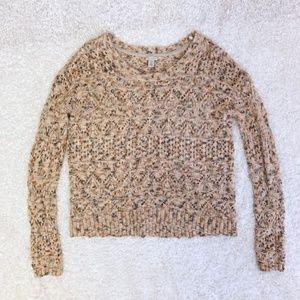 HINGE nordstrom open knit sweater M
